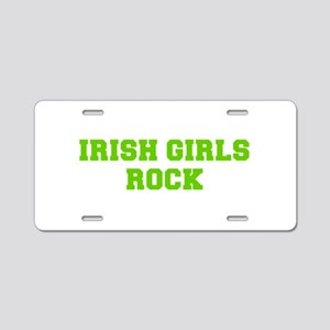 Irish Girls Rock-Fre l green 400 Aluminum License